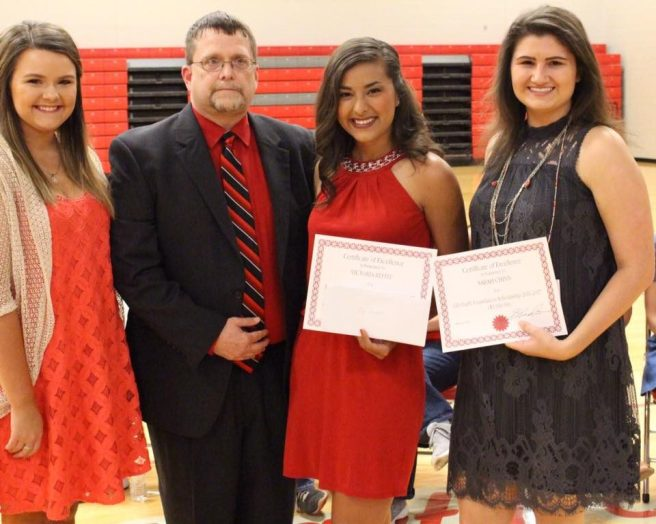 2018 Minford Scholarship Reciepients