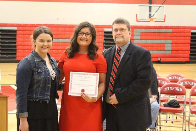 2017 Minford Scholarship Recipient